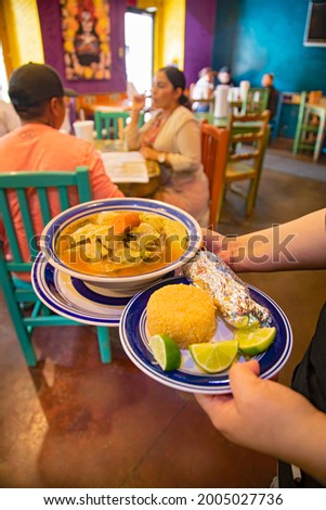 Noon meal at Meson de San Agustin restaurant Foto stock ©