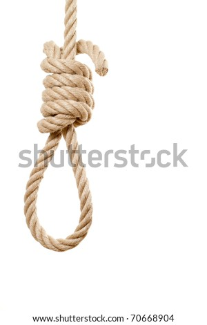 Noose isolated on white background