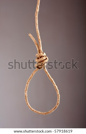 Noose made of rope