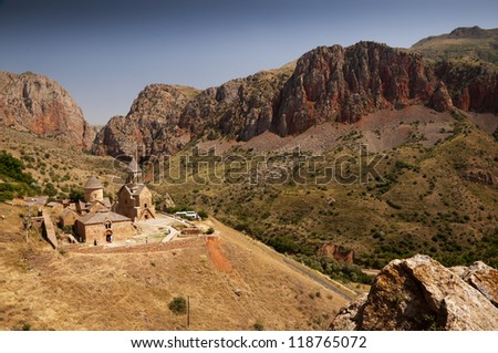 Noravank is a  13th century Armenian monastic complex  in Amaghu valley.