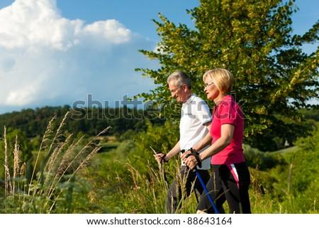 Walking - Happy mature or