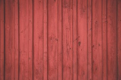 Nordic wooden red wall from Stockholm