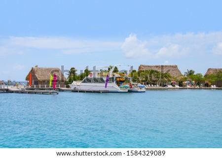 norkel and swim tour on Belize, Caribbean Stok fotoğraf ©
