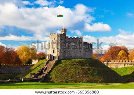 Norman Keep Castle, Autumn, Cardiff Castle, Wales, UK