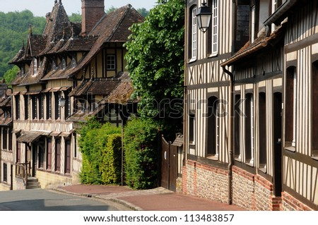 Normandie, the old village of  Lyons la Foret