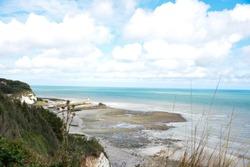 Normandy landscape in summer, Veules-Les-Roses
