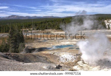 Norris Geyser Basin at Yellowstone National Park