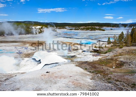 Norris Geyser Basin in Yellowstone National Park
