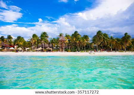 Shutterstock Norten beach on colorful Isla Mujeres island near Cancun in Mexico. Latin America.