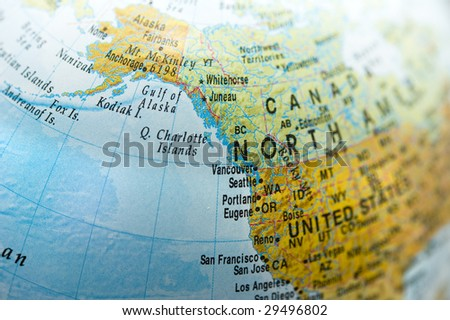 North America and Canada Map