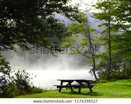 North America, Canada, Province of Nova Scotia, Cape Breton, cabot trail, Lake O'Law Foto stock ©