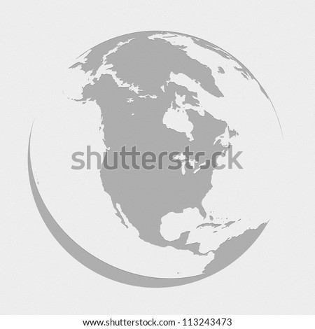 north america globe planet earth map