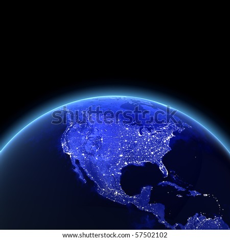 North America. Maps from NASA imagery