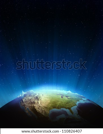 North america real relief. Elements of this image furnished by NASA