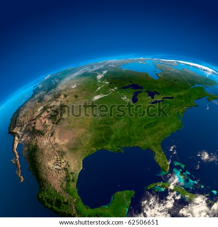 North America, the view from the satellites
