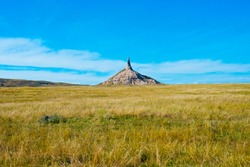 North America, USA, Nebraska, Kimbal, Chimney Rock,National, Historic Site