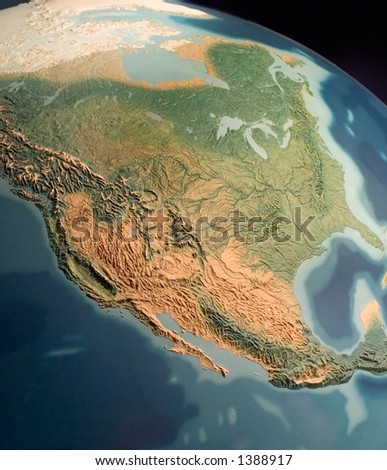 North America view on globus