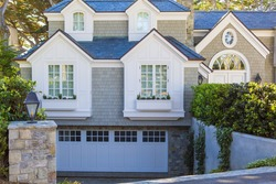 North American Luxury Home in the suburbs with garage. California, Carmel house exterior.