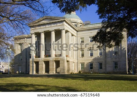 North Carolina historic state Capitol building - stock photo