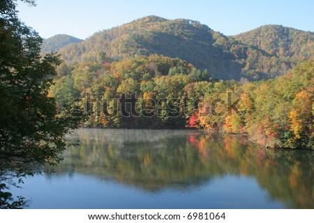North Carolina mountains in the autumn