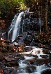 North Carolina Roadside Waterfall