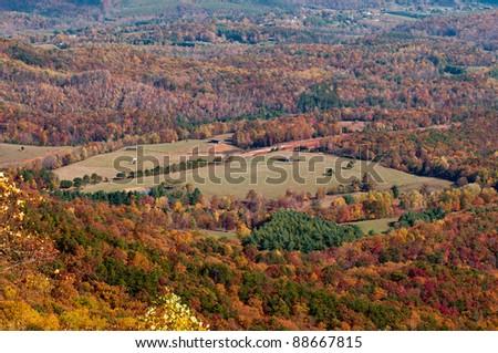 North Carolina valley viewed from Blue Ridge Parkway