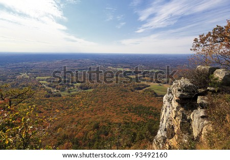 North Carolina view from Pilot Mountain