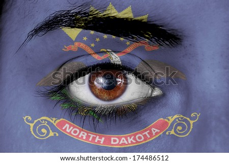 north dakota flag eye