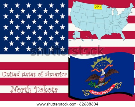 north dakota state illustration, abstract art; for vector format please visit my gallery