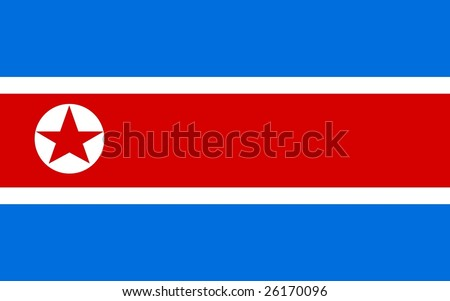 north korean flag. stock photo : North Korea flag