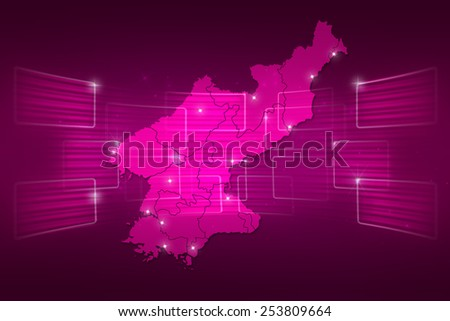 North Korea Map World map News Communication delivery pink
