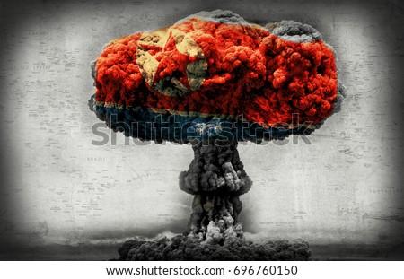 North Korea nuclear threat concept Stockfoto ©