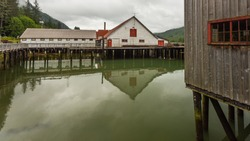 North Pacific Cannery Historic Site views, Prince Rupert, British Columbia, Canada