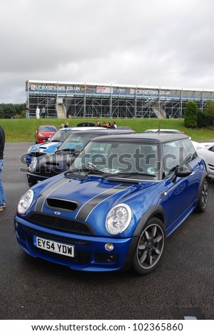 NORTHAMPTON, ENGLAND - SEPTEMBER 7: BMW Mini One on September 7, 2008 in Northampton, England, UK. Silverstone Race Circuit is Host to Annual Trax Automotive Show