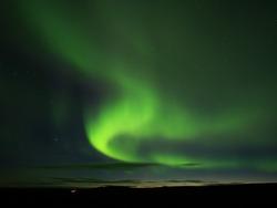 Northen lights in Reykjahlíð near Mývatn Lake, Iceland
