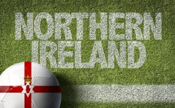 Northern Ireland Ball in a Soccer field
