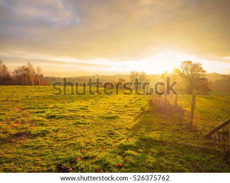 Northern Ireland countryside morning sunrise #526375762