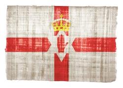 Northern Ireland flag on original papyrus background