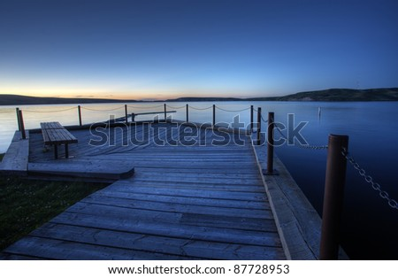 Northern Lake evening dusk sunset Canada