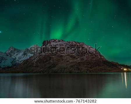 Northern light in Norway, Lofoten #767143282