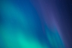Northern Light In The Night Sky, Aurora Borealis (Colorful Northern lights), Stars In The Sky.