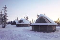 Northern light village
