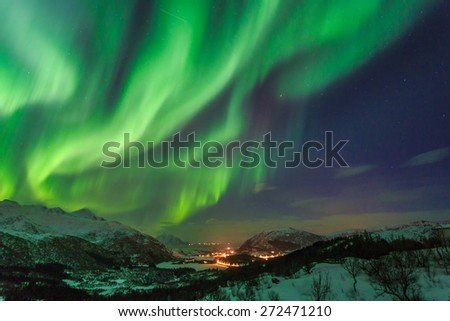 Northern Lights in Norway - Shutterstock ID 272471210