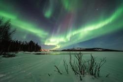 Northern lights in Pyhä, Lapland, Finland.