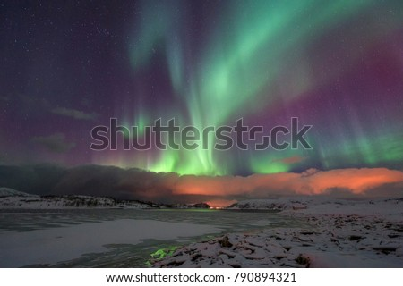 Northern lights, Norway - Shutterstock ID 790894321