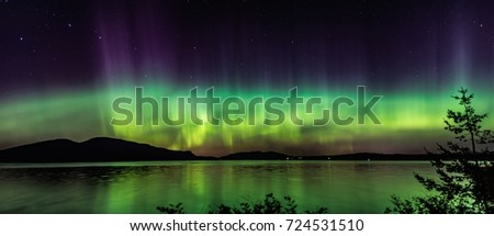Northern Lights Panorama #724531510