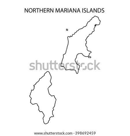 Northern Mariana Islands Map Outline | Free Image #398692459