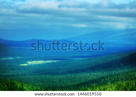 Northern Scandinavian tundra and forest tundra on plateaus