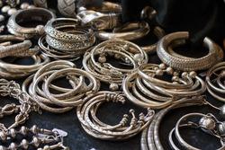 Northern Thailand-styled handmade silver bracelets