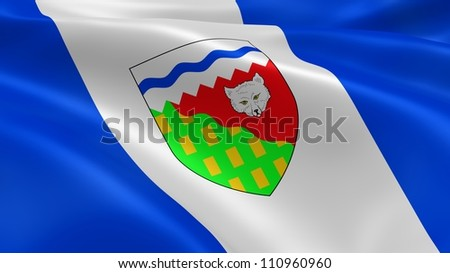 Northwest Territorian flag in the wind. Part of a series.